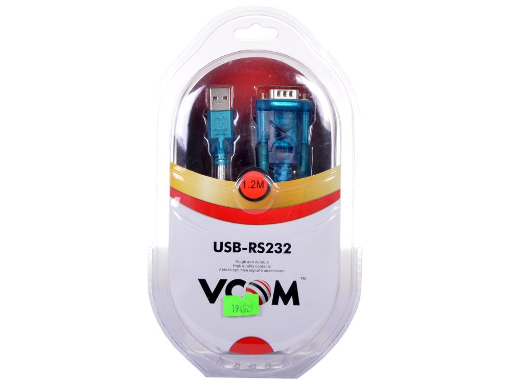 Кабель-адаптер USB AM - COM port 9pin (добавляет в систему новый COM порт) VCOM (VUS7050) кабель com для рации аргут