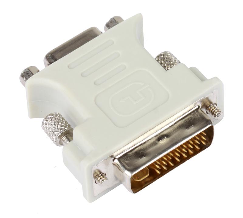 Адаптер (переходник) DVI-I - VGA(15F) VCOM [VAD7817] адаптер dvi buro dvi i m vga f [vga 15f dvi i plug]