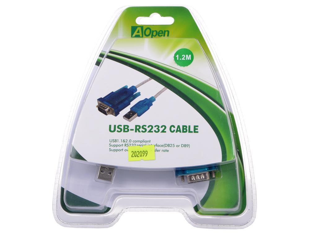 Кабель-адаптер USB AM - COM port 9pin (добавляет в систему новый COM порт), Aopen (ACU804) аксессуар 5bites usb 3 0 am micro 9pin 0 5m tc303 05