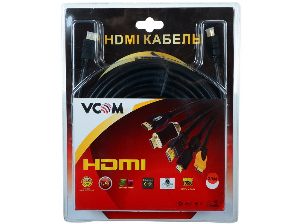 Кабель VCOM HDMI 19M/M ver:1.4+3D, 20m, позолоченные контакты, 2 фильтра (VHD6020D-20MB) Blister akg pae5 m