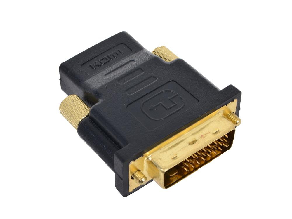 Адаптер (переходник) HDMI - DVI-D 19F/25M ORIENT C485 (мама-папа) переходник ningbo hdmi m dvi d f позолоченные контакты черный cab nin hdmi m dvi d f