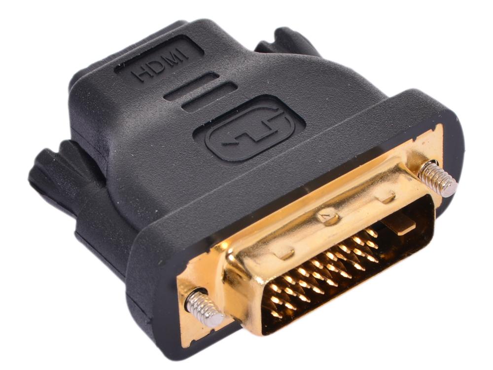 Переходник HDMI 19F - DVI-D 25M VCOM (VAD7818) переходник ningbo hdmi m dvi d f позолоченные контакты черный cab nin hdmi m dvi d f