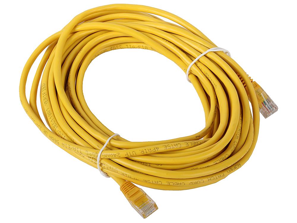 Сетевой кабель 10м UTP 5е, литой patch cord желтый Aopen [ANP511_10M_Y] cardas cross power cord кабель сетевой купить