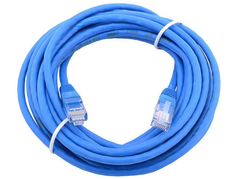 Сетевой кабель 15м UTP 5е, литой patch cord синий Aopen [ANP511_15M] cardas cross power cord кабель сетевой купить