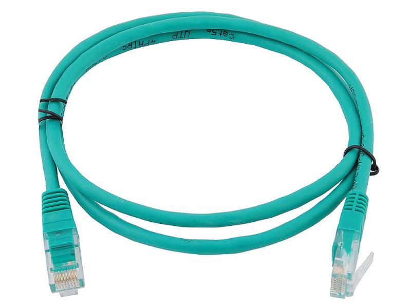 Сетевой кабель 1м UTP 5е, литой patch cord зеленый Aopen [ANP511_1M_G] patch