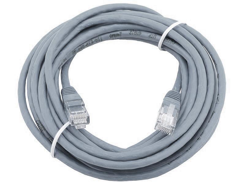 Сетевой кабель 20м UTP 5е, литой patch cord серый Aopen [ANP511_20M] цена