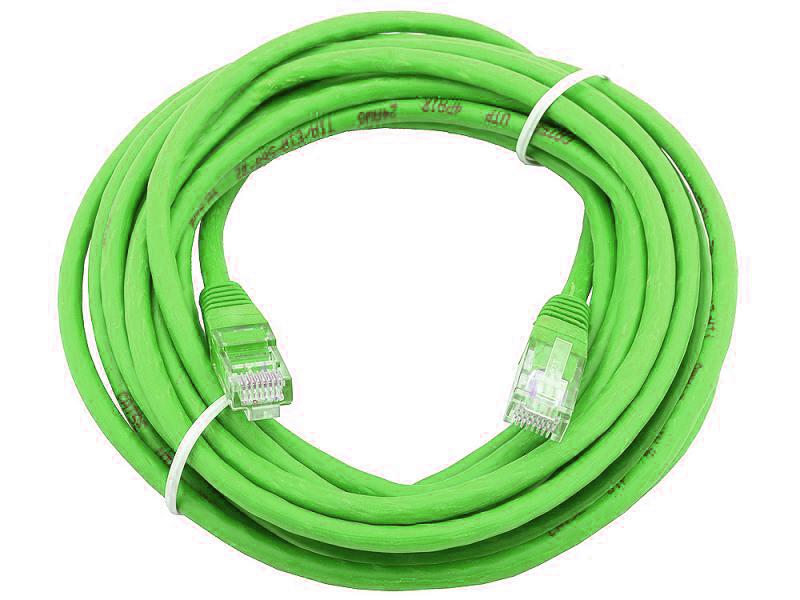 Сетевой кабель 20м UTP 5е, литой patch cord зеленый Aopen [ANP511_20M_G] цена