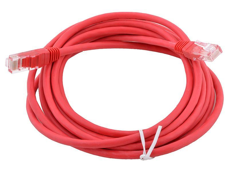 Сетевой кабель 20м UTP 5е, литой patch cord красный Aopen [ANP511_20M_R] cardas cross power cord кабель сетевой купить