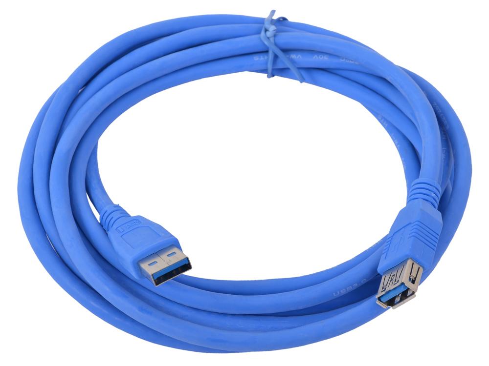 Кабель USB3.0 Pro Gembird/Cablexpert AM/AF, 3м, экран, синий, пакет CCP-USB3-AMAF-10