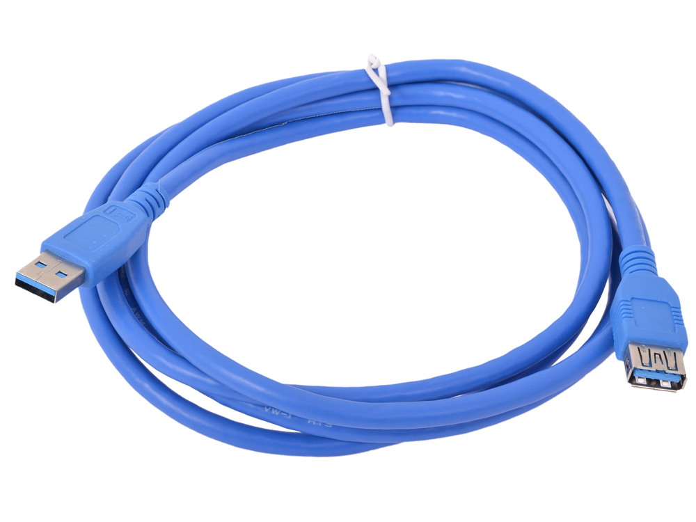 Картинка для Кабель USB3.0 Pro Gembird/Cablexpert AM/AF, 1.8м, экран, синий, пакет  CCP-USB3-AMAF-6