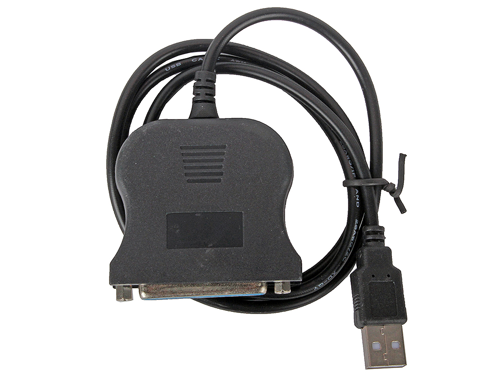 Картинка для Кабель-адаптер Orient ULB-225, USB AM to LPT DB25F (порт), кабель 0.85м, крепление гайки