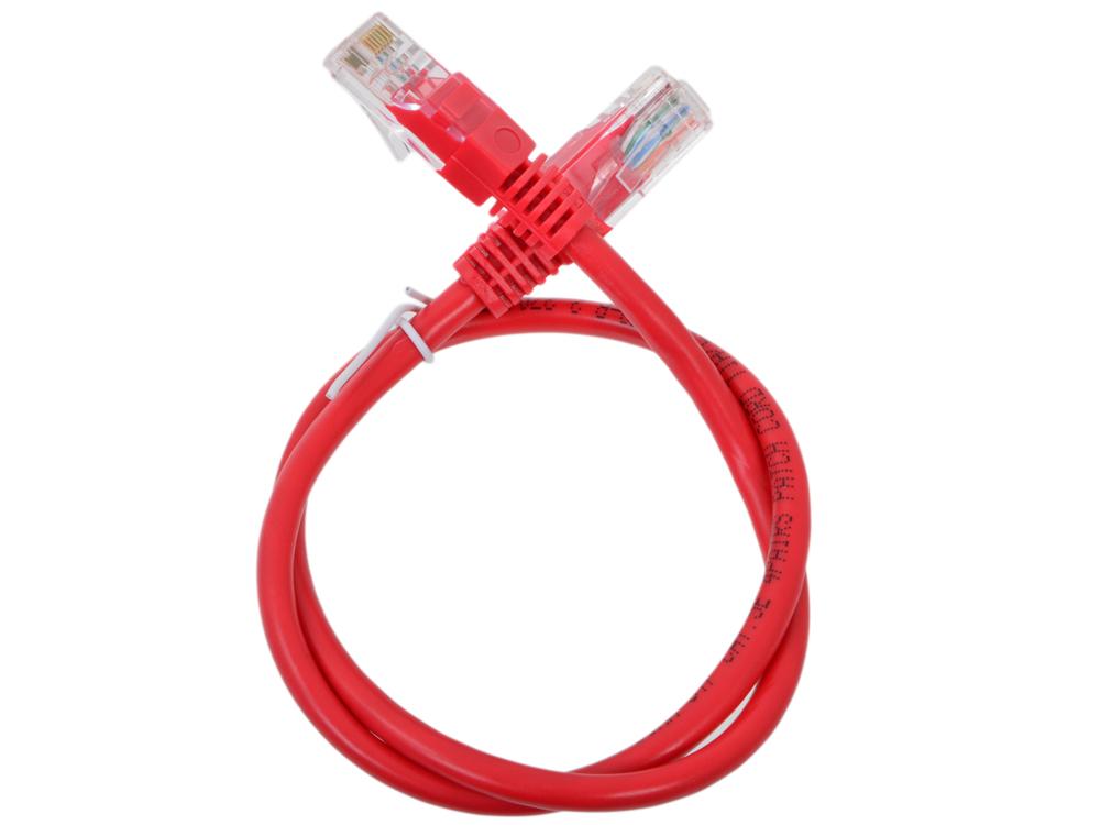 Сетевой кабель 0.5м UTP 5е Neomax NM13001-005R красный, медный, многожильный(7х0,2мм) patch cord, PVC, 24AWG