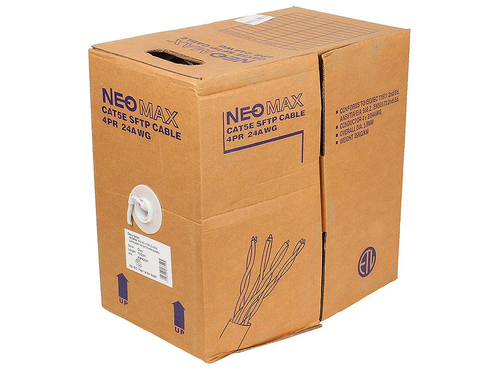 Кабель Neomax NM40001 S/FTP, 4 пары, Категория 5е, 305 м.