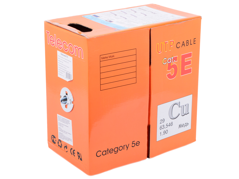 цена на Сетевой кабель бухта 305м UTP 5e 4 пары