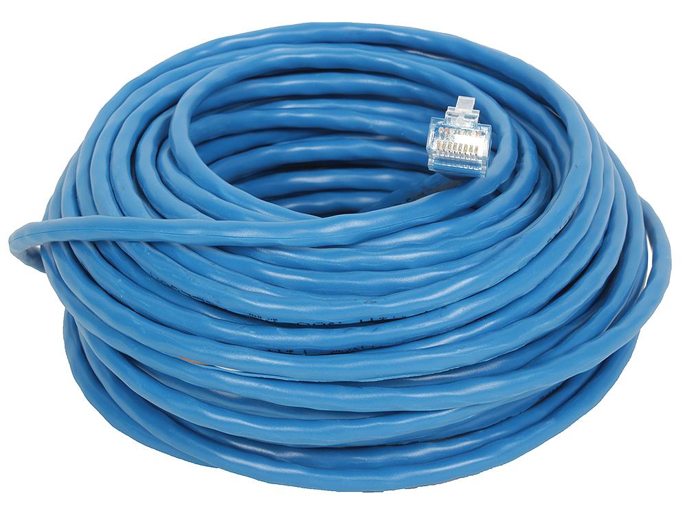 Патчкорд литой Telecom UTP кат.5е 15м., синий розетка itk для rj45 utp кат 5е 1 выход белый cs2 1c5eu 12
