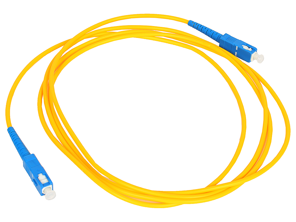 Оптический шнур SC-SC 2м, UPS, одномодовый Vcom VSU202-2M Simplex