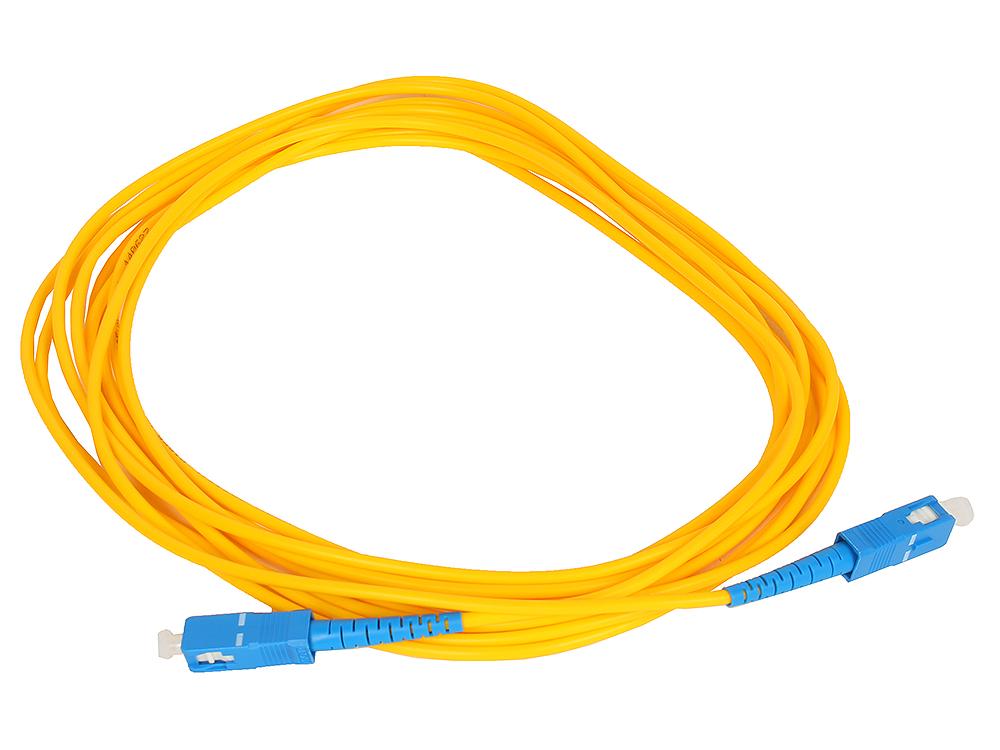 Оптический шнур SC-SC 5м, UPS, одномодовый Vcom VSU202-5M Simplex