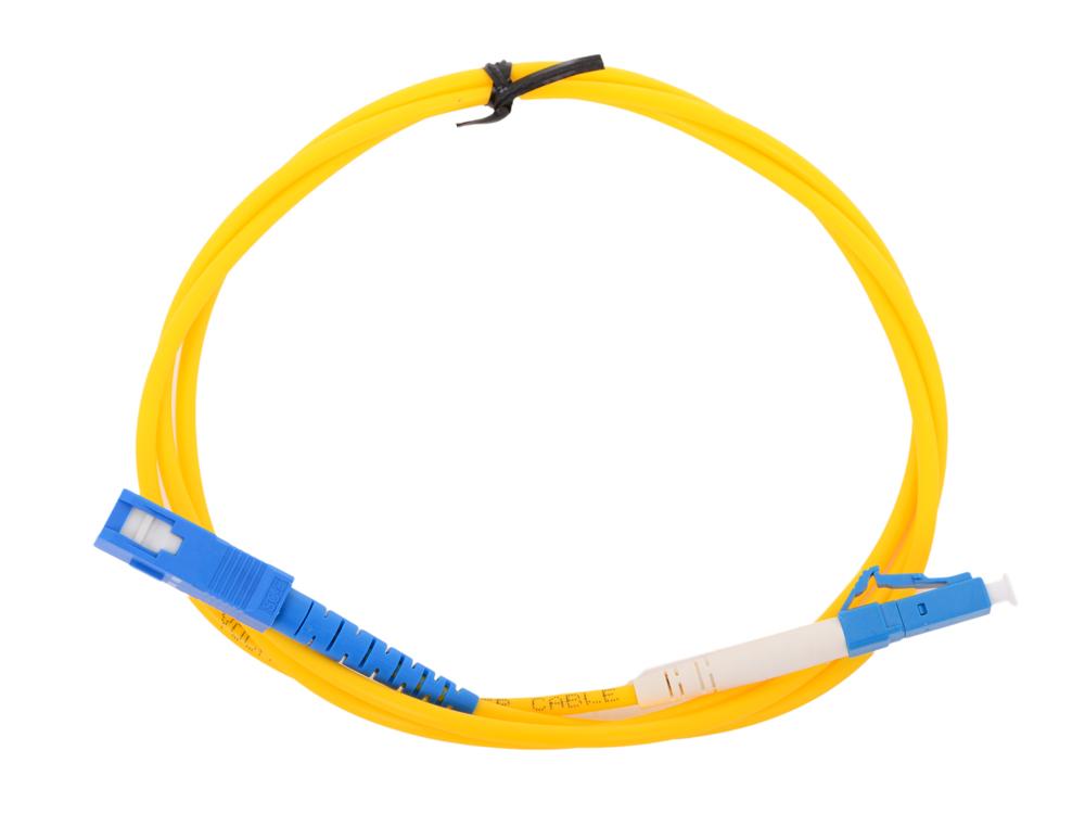 цена на Оптический шнур LC-SC 1м, UPS, одномодовый Vcom VSU302-1M Simplex