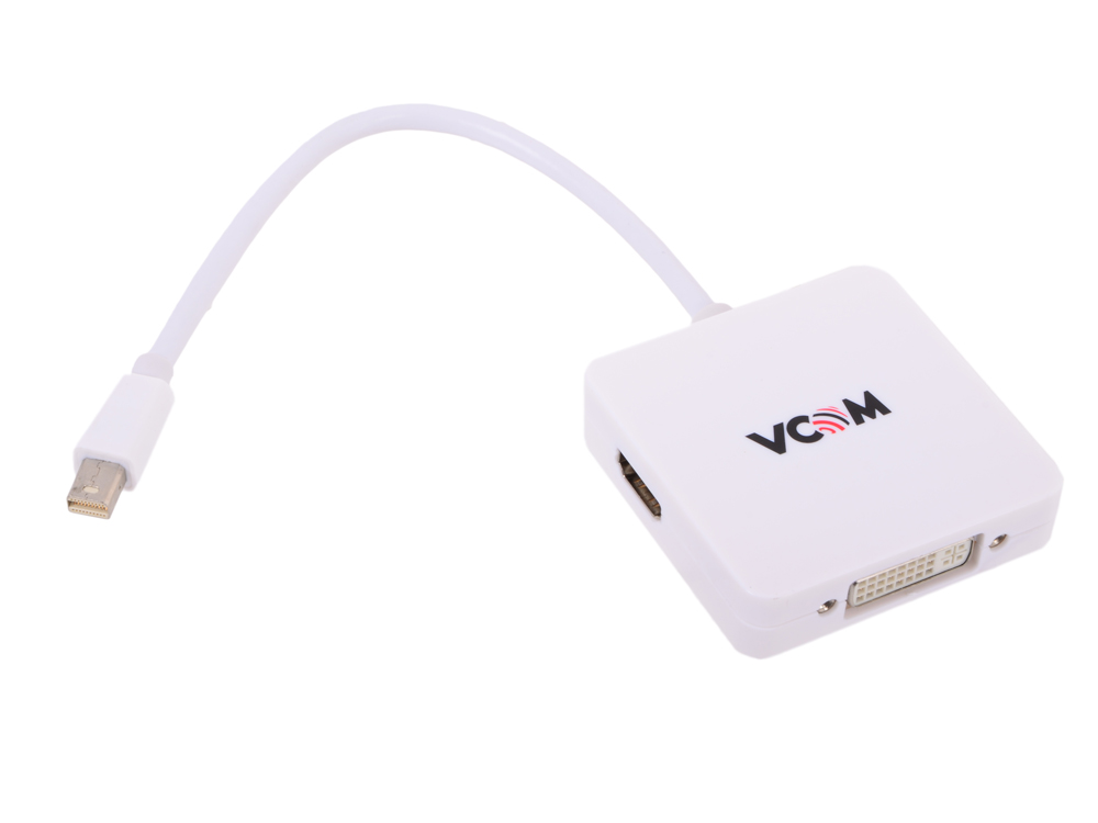 Кабель-переходник Mini DisplayPort -> HDMI/DVI/DisplayPort VCOM {CG554} переходник lenovo mini displayport hdmi 0b47089