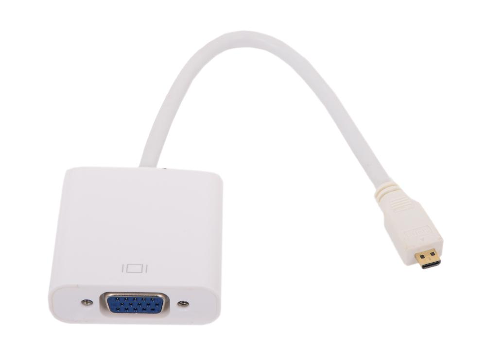Кабель-переходник VCOM Micro HDMI M=)VGA F 0.15m (CG593) цена