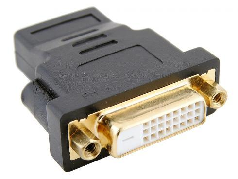 Переходник Orient C489 HDMI F - DVI F (24+1), позолоч.разъемы переходник hdmi m dvi f orient с484