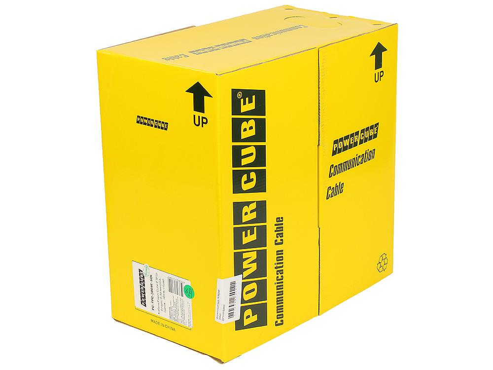 Кабель FTP Power Cube PC-FPC-5004E-SOL кат.5e CCA однож. 4х2х0.48 мм, экран, 305 м pullbox, серый