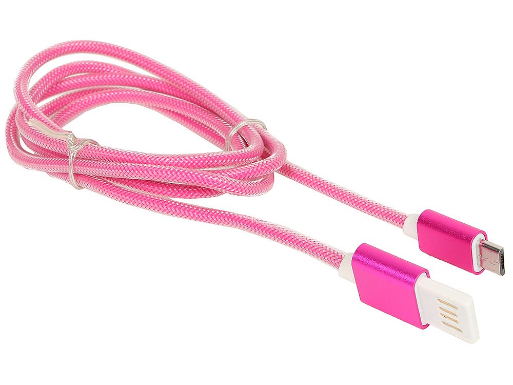 Кабель USB 2.0 Cablexpert, AM/microBM 5P, 1м розовый металлик (CCB-mUSBr1m ) кабель usb 2 0 cablexpert am microbm 5p 1м синий металлик cc musbb1m