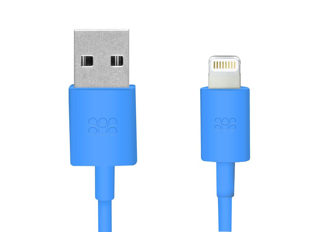 все цены на  Кабель Apple Lightning/USB 1.2м Promate linkMate-LT синий (MFI)  онлайн