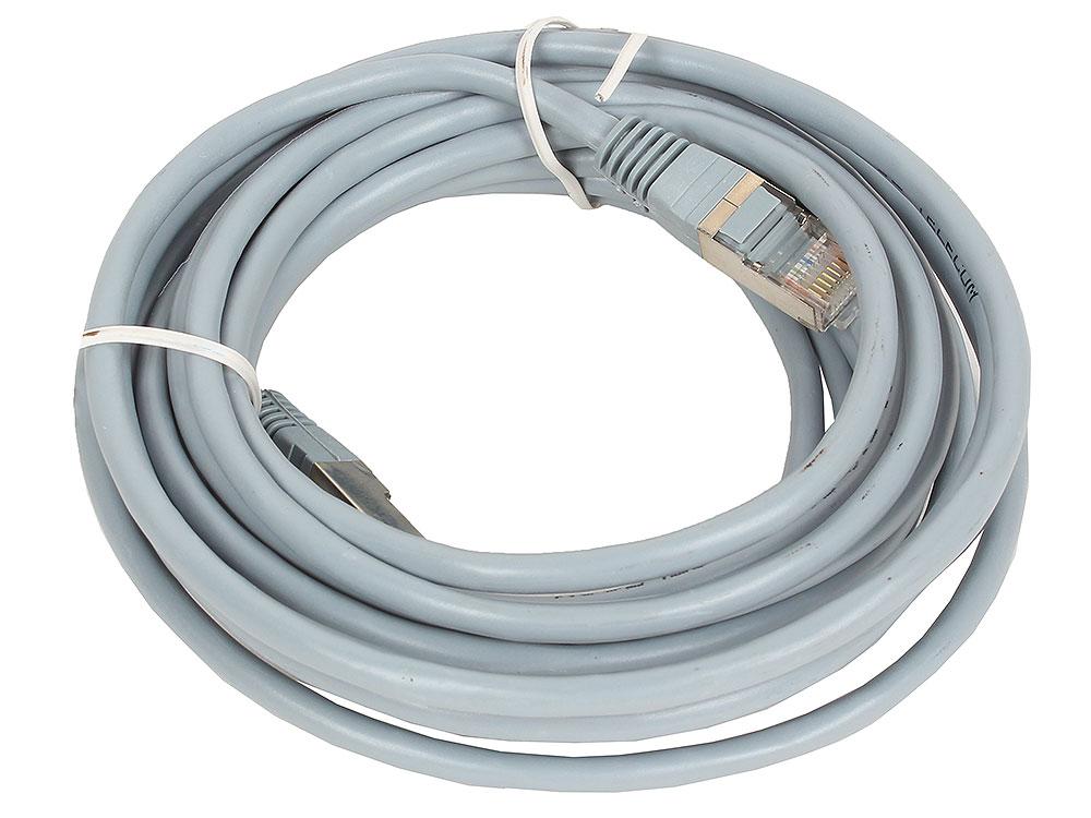 Патчкорд литой TELECOM FTP кат.5e 5m кабель telecom sftp 5e кат