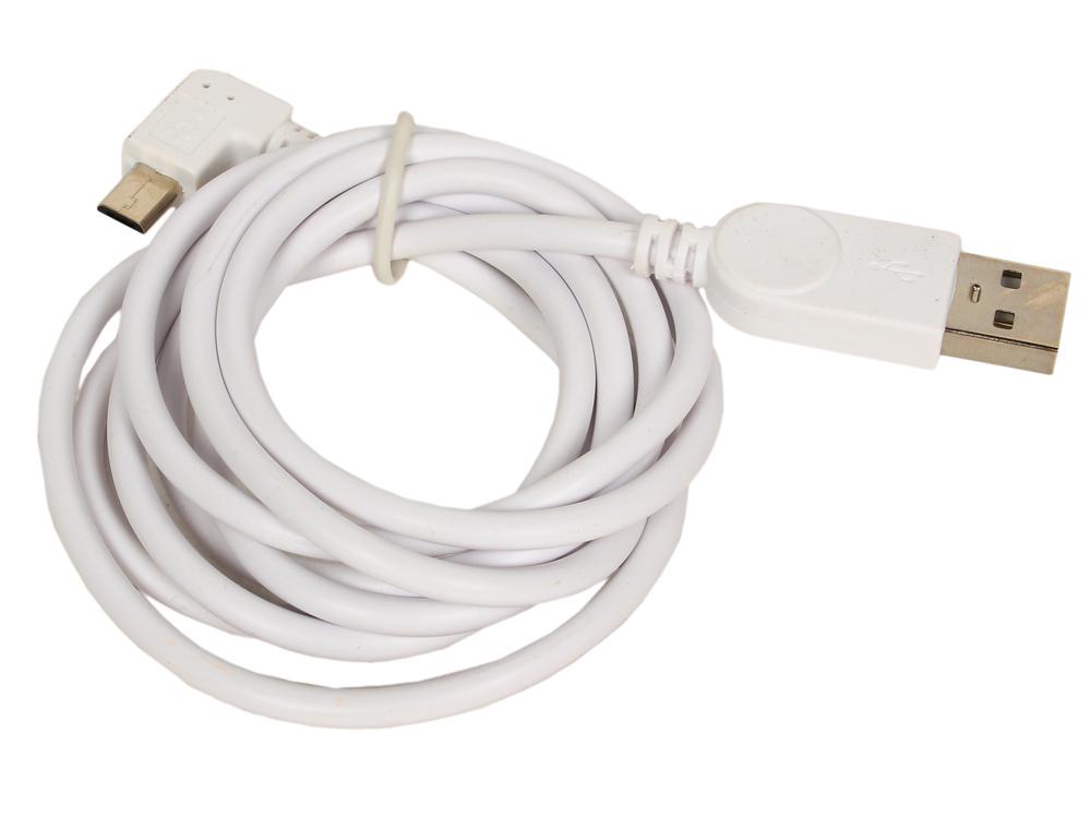 Кабель USB 2.0 Orient MU-215RL, Am - micro-Bm (5pin) угловой, левый поворот 90гр, 1.5 м, белый кабель red line classic micro usb 2м белый