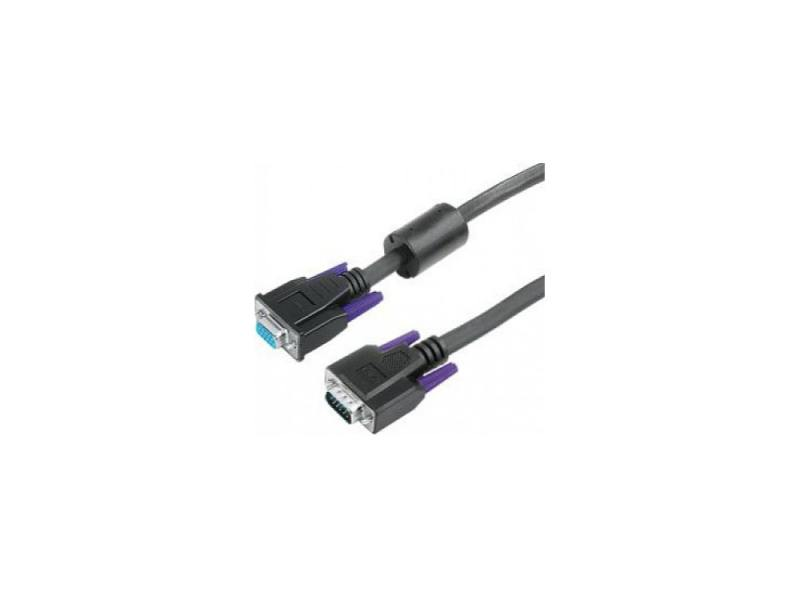 Кабель VGA 1.8м Hama двойное экранирование ферритовый фильтр черный H-41936 кабель vga 1 8м hama h 41936 круглый черный