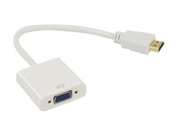 Переходник ВЕНРЕХ HDMI-M - VGA-F 794538 переходник hdmi vga gembird a hdmi vga 03