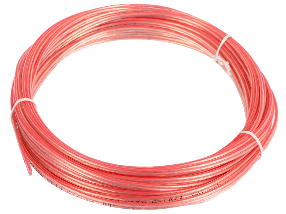 Акустический кабель Cablexpert CC-TC2x0,75-10M, прозрачный, 10 м, бухта кабель акустический в нарезку supra quadrax 4x2 0 mm