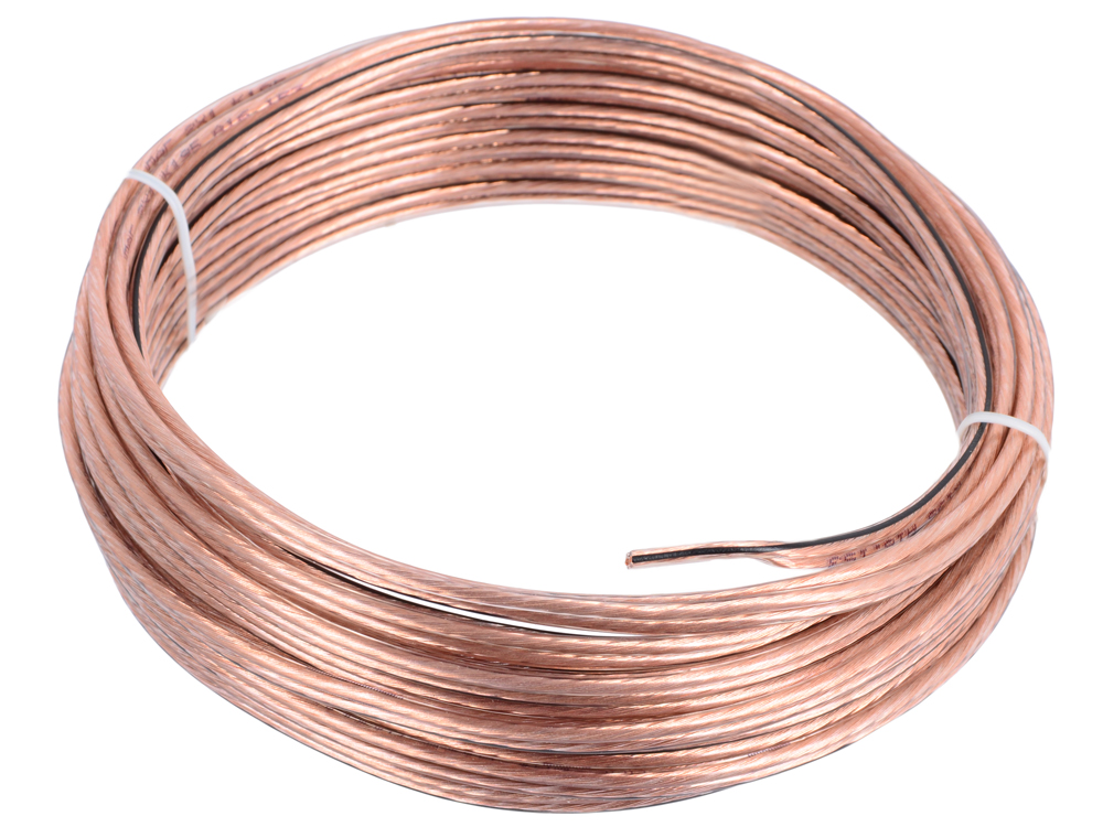 Акустический кабель Cablexpert CC-TC2x1,0-10M, прозрачный, 10 м, бухта кабель акустический в нарезку supra quadrax 4x2 0 mm