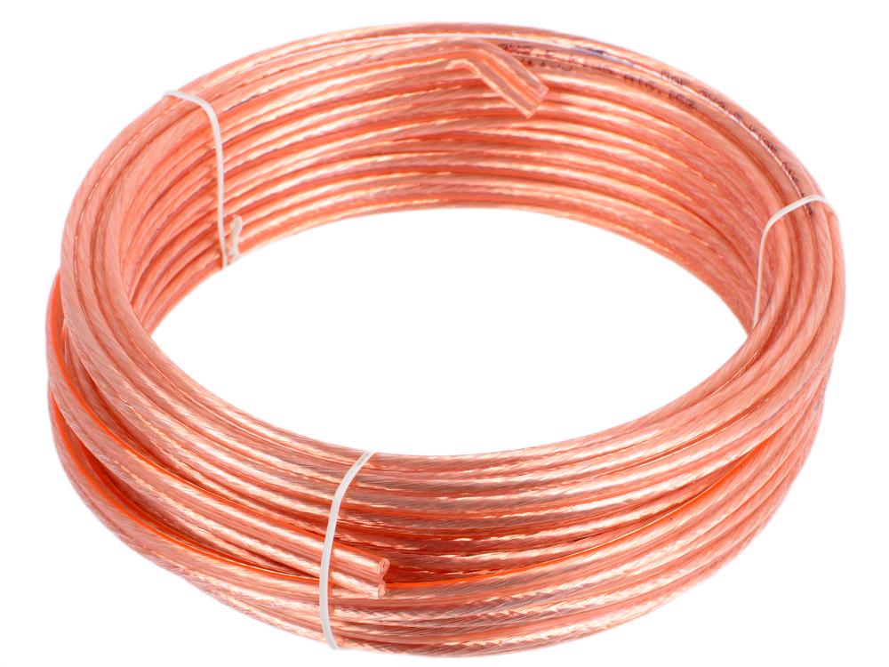 Акустический кабель Cablexpert CC-TC2x2,5-10M, прозрачный, 10 м, бухта акустический кабель cablexpert cc tc2x1 0 10m прозрачный 10 м бухта