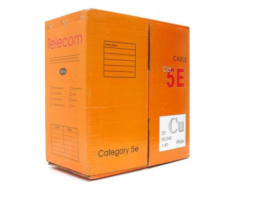 Кабель Telecom CU S/FTP 4 пары кат. 5e (SFTP4-TC1000C5EN-CU-IS) (бухта 305м) кабель telecom ultra ftp 4 пары кат 5е бухта 100м p n tfs44150e