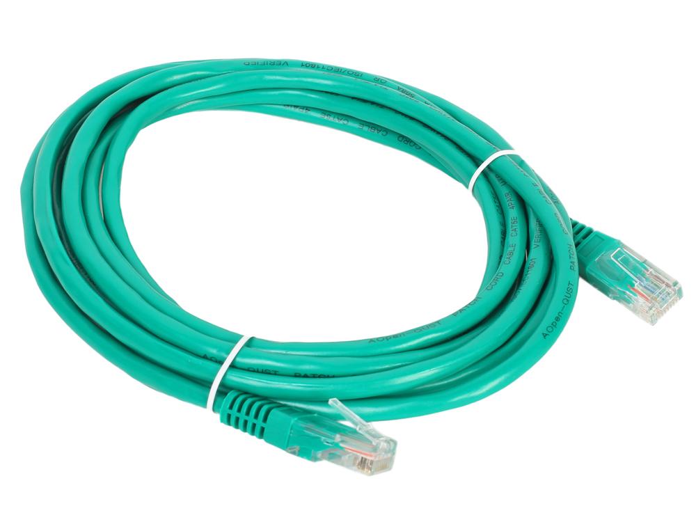 Патч-корд литой Aopen/Qust UTP кат. 3м зеленый (ANP511_3M_G)