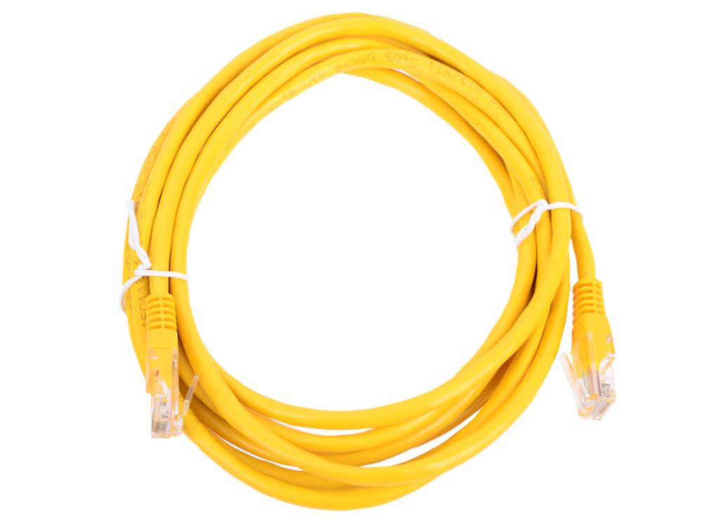 Патч-корд литой Aopen/Qust UTP кат.5е 3м желтый (ANP511_3M_Y)