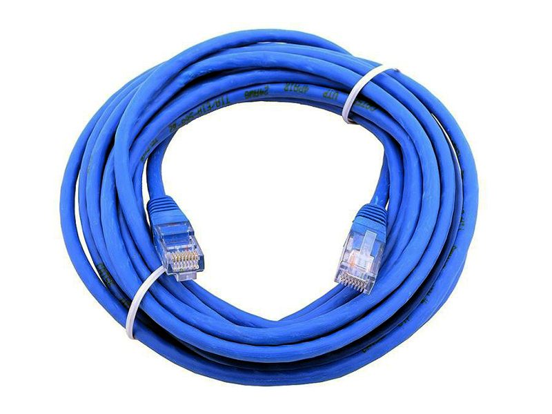 Патч-корд литой Aopen/Qust UTP кат.5е 5м синий (ANP511_5M_B)