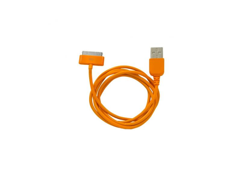 Кабель CBR Human Friends Super Link Rainbow C Orange USB 1м для iPhone 3G/4, iPad 1/2/3, iPod 5 awei q9i stylish in ear earphone w microphone for iphone 3g 3gs 4 4s ipad white orange