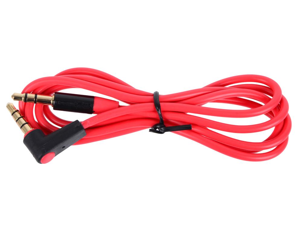 Кабель Belsis BL1023 (Jack 3.5 mm г-образная вилка - Jack 3.5 вилка, стерео-аудио, 1 м., красный) кабель jack 3 5 mm вилка 2xrca вилка стерео аудио 5 м