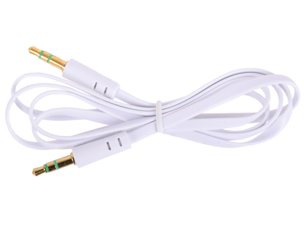 Кабель Belsis BL1024 (Jack 3.5 mm вилка - Jack 3.5 вилка плоский, стерео-аудио, 1 м. белый) кабель jack 3 5 mm вилка 2xrca вилка стерео аудио 5 м