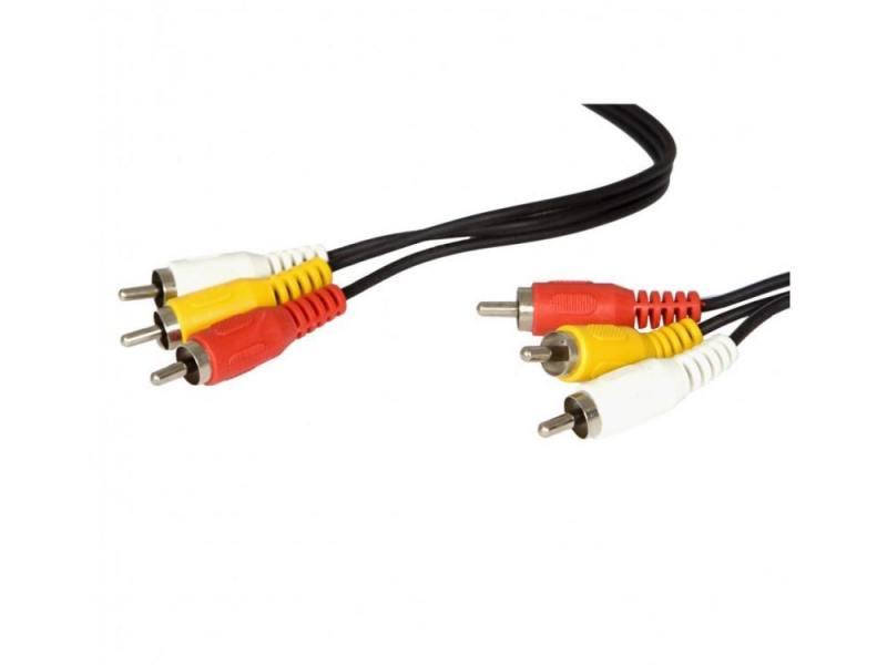 Кабель 5.0м Buro 3xRCA(M)-3xRCA(M) черный BAAC027-5 кабель belsis 3xrca 3xrca 1м bw1591