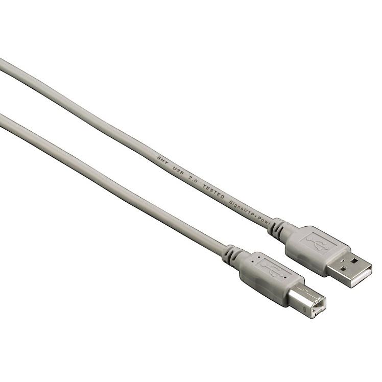Кабель USB 2.0 AM-BM 2.5м Hama H-53723 серый кабель hama h 173672 00173672 micro usb b m usb a m 0 6м черный