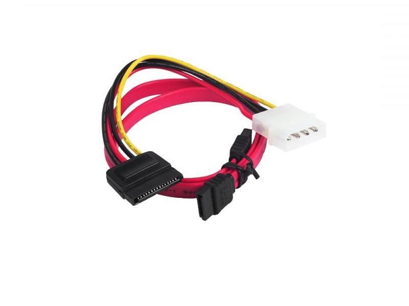Комплект кабелей интерфейсный 7pin/7pin 48см + кабель питания 4pin/15pin 15см Gembird CC-SATA цена 2017