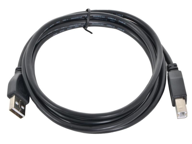 Кабель USB 2.0 AM-BM 1.8м Pro Gembird USB2.0-AM-BM-BR кабель oxion usb am bm 1 8м