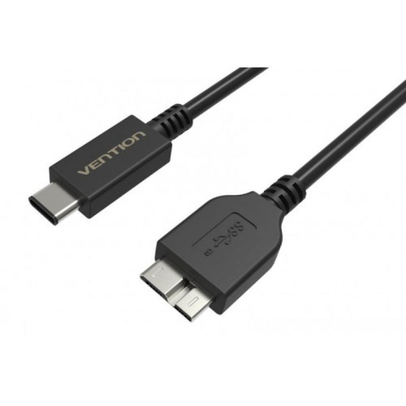 Кабель USB С(m)-USB 3.0 micro B 1.0м Vention VAS-A32-B100 черный