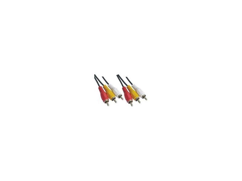 Кабель соединительный 3.0м VCOM Telecom 3xRCA(M)-3xRCA(M) VAV7150-3M цена и фото