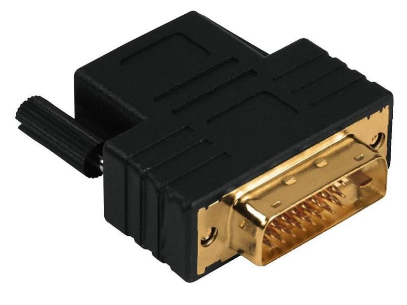 Переходник DVI-D-HDMI(f) Compact Dual Link Hama позолоченные контакты черный 122237 переходник aopen hdmi dvi d позолоченные контакты aca311