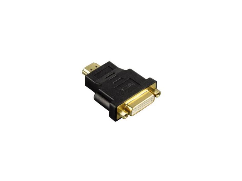 Переходник HDMI(m) - DVI/D(f) позолоченные штекеры черный Hama H-34036 переходник aopen hdmi dvi d позолоченные контакты aca311